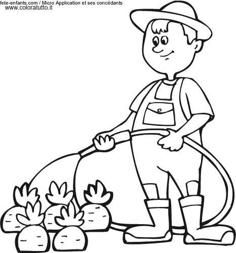 Primavera 15 disegni per bambini da colorare for Immagini giardiniere