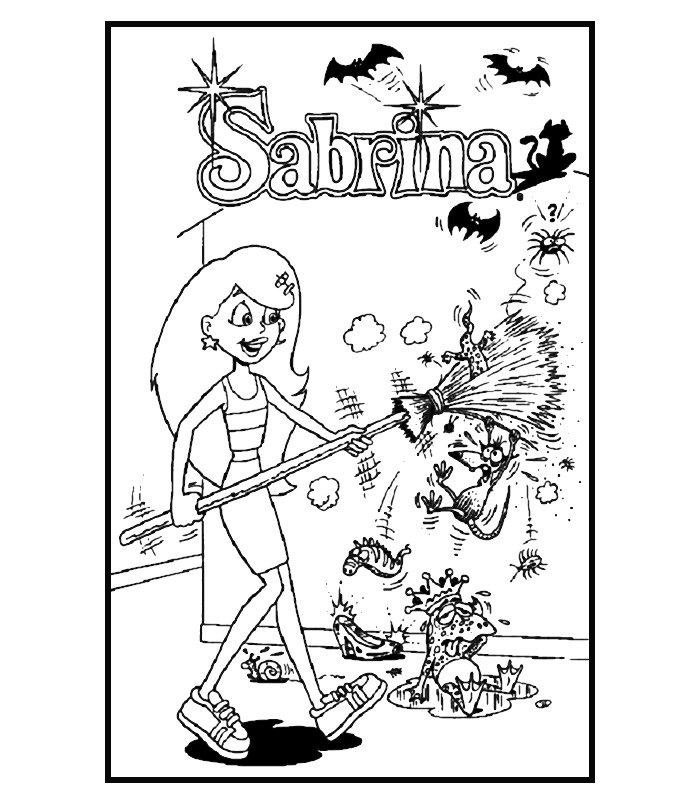 Sabrina Strega 2 Disegni Per Bambini Da Colorare