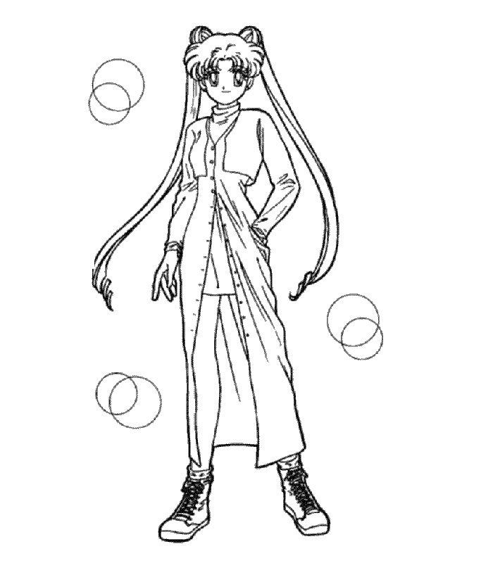 Sailor Moon 5 Disegni Per Bambini Da Colorare
