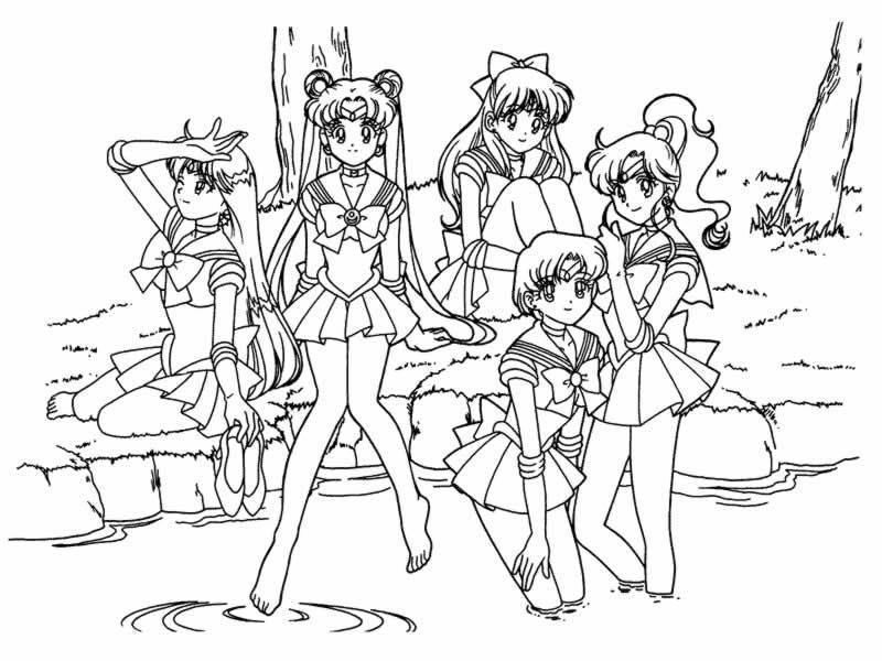 Sailor Moon 13 Disegni Per Bambini Da Colorare