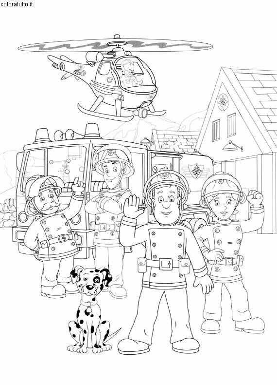 Pompiere Sam Da Colorare.Sam Pompiere Disegni Per Bambini Da Colorare