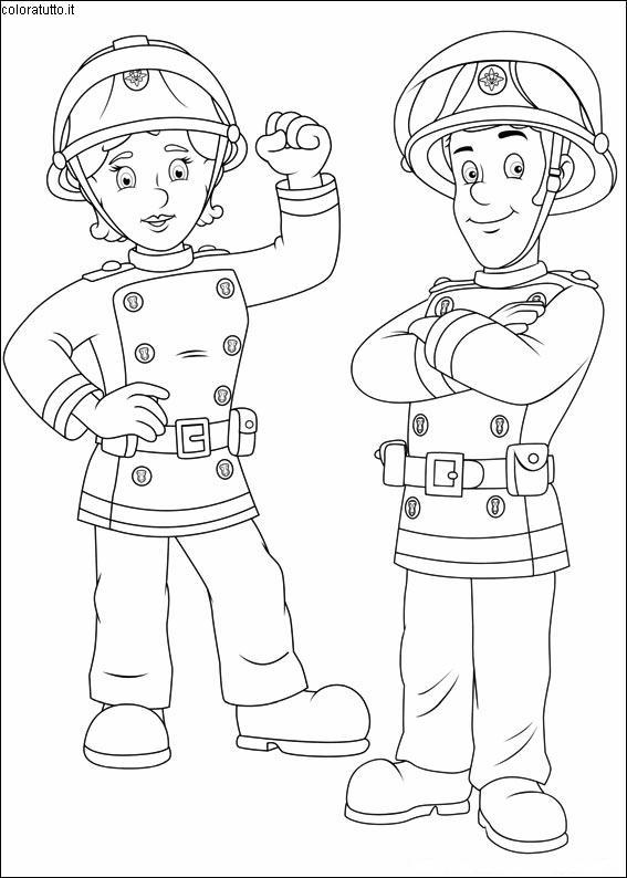 disegni sam il pompiere da colorare gratis  colorare immagini