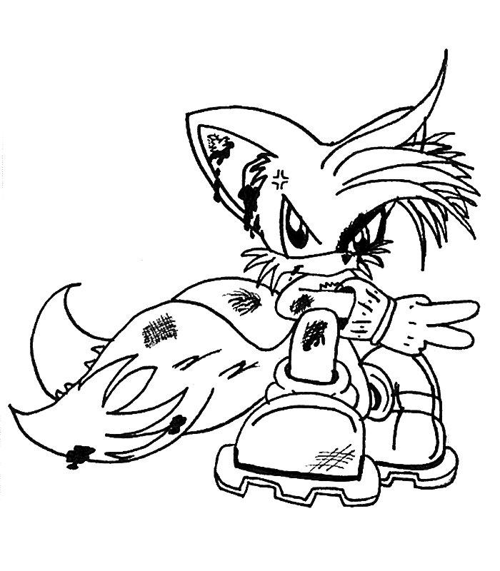 Sonic Disegni per bambini da colorare