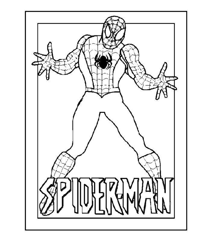 Pin stampa disegno spiderman supereroe colorare ajilbabcom for Disegni da stampare spiderman