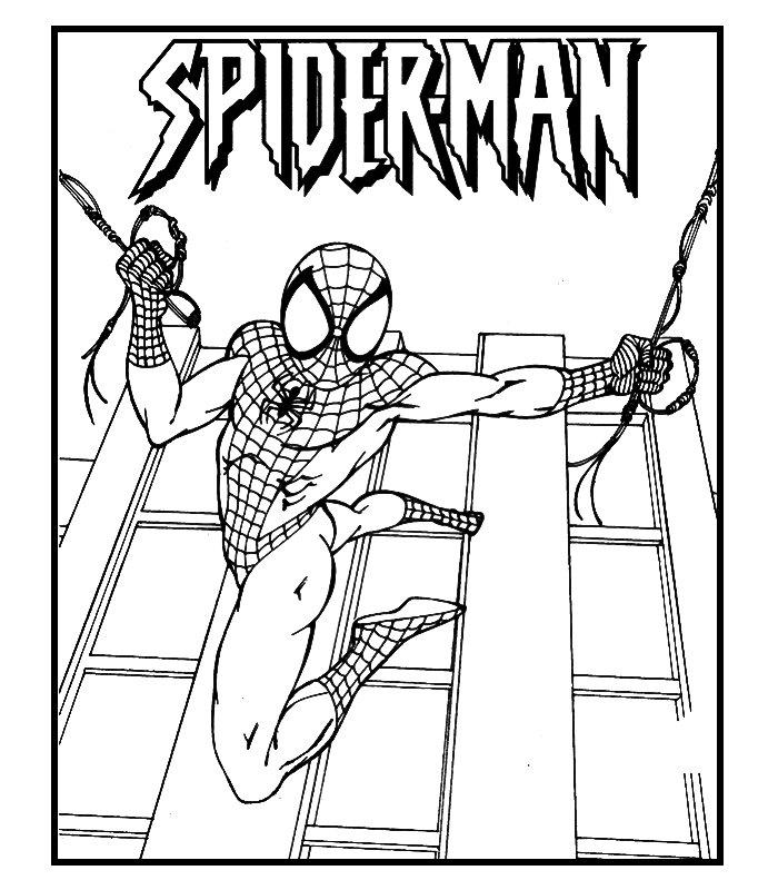 Spiderman 6 disegni per bambini da colorare for Disegni spiderman da colorare per bambini