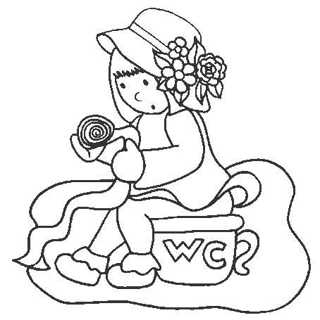 Wc disegni per bambini da colorare for Wc immagini